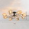 Nordic style LED Ceiling Light Glass Shade Metal Rotatable Bedroom Living Room from Singapore best online lighting shop horizon lights
