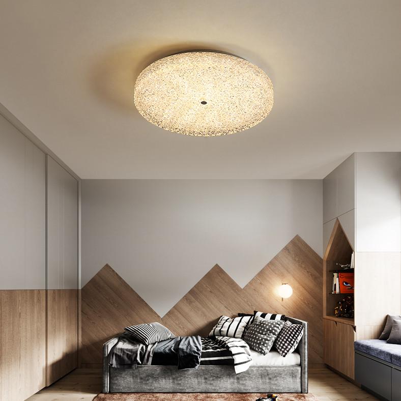 Modern LED Ceiling Light Crystal Disc Metal Simple Bedroom Corride Decor