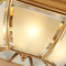 American LED Ceiling Light Copper Glass Retro Simple Bedroom Study Room from Singapore best online lighting shop horizon lights
