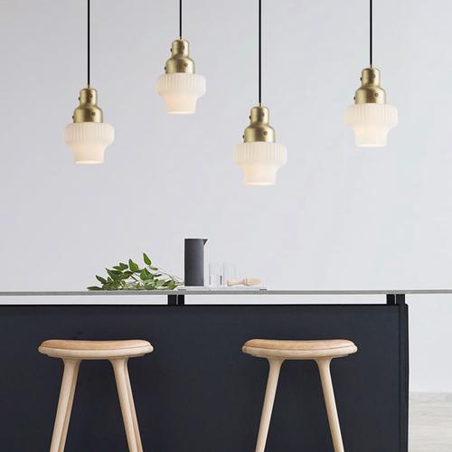 Modern LED Pendant Light Glass White Lampshade Metal Bedroom Dining Room from Singapore best online lighting shop horizon lights