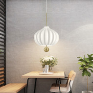 Modern LED Pendant Light White Glass Lampshade Metal Elegant Dining Room from Singapore best online lighting shop horizon lights