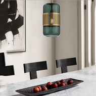 Modern LED Pendant Light Glass Lampshade Copper Dining Room Coffee Bar  from Singapore best online lighting shop horizon lights