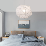 Modern LED Pendant Light Fabric Irregular Geometry Shade Metal Frame Bedroom Dining Room from Singapore best online lighting shop horizon lights