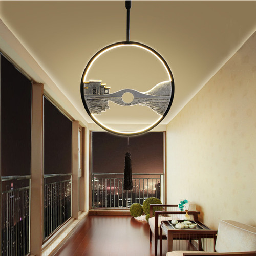 New Chinese LED Pendant Light Metal Resin Ancient Town Dining Room Decor from Singapore best online lighting shop horizon lights