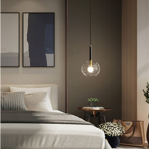 Scanavia LED Pendant Light Glass Ball Lampsahde H65 Copper Bar Dining Room from Singapore best online lighting shop horizon lights