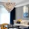 Post-modern LED Chandelier Light Mirror K9 Crystal Metal Luxurious Hotel Lobby from Singapore best online lighting shop horizon lights