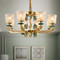 European LED Chandelier Light Crystal Glass Lampshade Copper Luxurious Living Room Lobby from Singapore best online lighting shop horizon lights