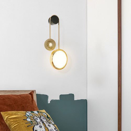 Modern LED Wall Light Metal Discs Artistic Fashion Living Room Corride Decor from Singapore best online lighting shop horizon lights