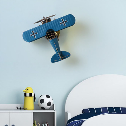Modern LED Wall Light Metal Aircraft Shape Creative Children Bedroom Kindergarten from Singapore best online lighting shop horizon lights
