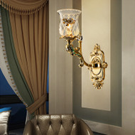 European LED Wall Light Glass Shade Zinc alloy Luxurious Living Room Corridor Decor from Singapore best online lighting shop horizon lights
