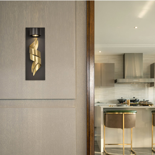 Modern LED Wall Light Copper Metal Luxurious Simple Corridor Living Room from Singapore best online lighting shop horizon lights
