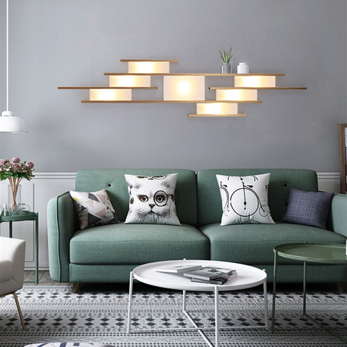 Modern LED Wall Light Metal Acrylic Geometric Creative Living Room Bedroom from Singapore best online lighting shop horizon lights