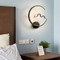 New Chinese style LED Wall Light Aluminum Metal Bird Circle Simple Bedroom Living Room from Singapore best online lighting shop horizon lights