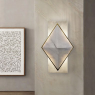 Modern LED Wall Light Marble Copper/Stainless steel Simple Corridor Hallway Decor from Singapore best online lighting shop horizon lights