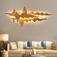 New Chinese style LED Wall Light Wood Mountain Shape Creative Corridor Living Room from Singapore best online lighting shop horizon lights