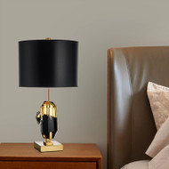 Modern LED Table Lamp Cloth Lampshade Metal Base Simple Living Room Hotel from Singapore best online lighting shop horizon lights