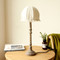 Nordic LED Table Lamp Cloth Lampshade Wood Metal Simple Bedroom Living Room from Singapore best online lighting shop horizon lights