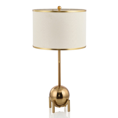 Modern LED Table Lamp Cloth Lampshade Metal Simple Living Room Hotel from Singapore best online lighting shop horizon lights