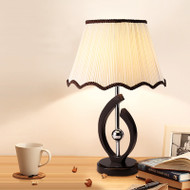 Modern LED Table Lamp 2PCS Cloth Shade Wood Metal Simple Bedroom Living Room from Singapore best online lighting shop horizon lights