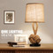 Modern LED Table Lamp Linen Hemp Rope Creative Hallway Bedroom Decor from Singapore best online lighting shop horizon lights