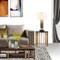 Modern LED Table Lamp Cloth Shade Metal Creative Living Room Bedroom from Singapore best online lighting shop horizon lights