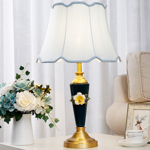 American LED Table Lamp H65 Copper Ceramics Cloth Classical Home Decor from Singapore best online lighting shop horizon lights