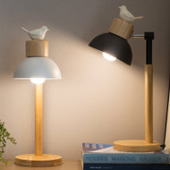 Modern LED Table Lamp Metal Wood Bird Creative Bedroom Living Room from Singapore best online lighting shop horizon lights