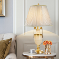 European LED Table Lamp H65 Copper Marble Luxurious Classical Home Decor from Singapore best online lighting shop horizon lights