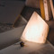 Modern LED Table Lamp Marble Pyramid Shape Unique Bedside Hallway Decor from Singapore best online lighting shop horizon lights
