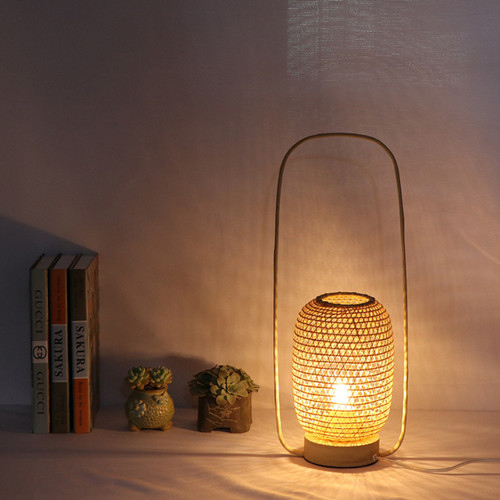 New Chinese style LED Table Lamp Bamboo Handwork Portable Living Room Bedroom from Singapore best online lighting shop horizon lights