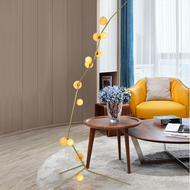 Nordic style LED Floor Lamp Glass Shade Metal Fancy Living Room Hotel Decor from Singapore best online lighting shop horizon lights
