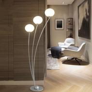 Modern LED Floor Lamp Metal Glass Ball Shade Metal Creative Bedroom Living Room from Singapore best online lighting shop horizon lights