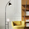 Burj Khalifa Light, E27 LED Floor Lamp with shelf for Minimalist and Art Deco (black)