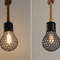 Industrial Style LED Pendant Light 3PCS Metal Shade Hemp Rope Retro Loft Cafe from Singapore best online lighting shop horizon lights