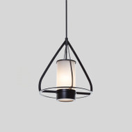 Modern Style LED Pendant Light Metal Frame Glass Shade Bedroom Dining Room Decor from Singapore best online lighting shop horizon lights