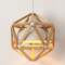 Modern LED Pendant Light Wood Diamond Frame Metal Shade Dining Room Bedside from Singapore best online lighting shop horizon lights