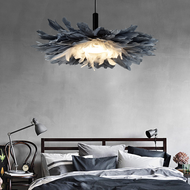 Nordic style LED Pendant Light Feather Flower Shape Charming Bedroom Shops from Singapore best online lighting shop horizon lights