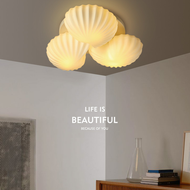 Modern LED Ceiling Light Glass Shell Shade Metal Creative Living Room Bedroom from Singapore best online lighting shop horizon lights
