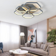 Modern LED Ceiling Light Metal Acrylic Polyon Shape Corride Bedroom Decor from Singapore best online lighting shop horizon lights