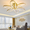 Modern LED Ceiling Light Aluminum Acrylic Crystal Flowers Shape Bedroom Decor from Singapore best online lighting shop horizon lights