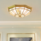 American Style LED Ceiling Light Copper Glass Shade Luxurious Living Room Corrider from Singapore best online lighting shop horizon lights