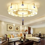 New Chinese Style LED Ceiling Light Metal Fabric Shade Warmth Living Room from Singapore best online lighting shop horizon lights
