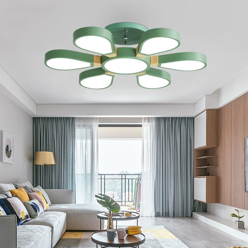 Modern LED Ceiling Light Metal Acrylic Shade Wood Creative Living Room Bedroom from Singapore best online lighting shop horizon lights