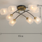 Modern LED Ceiling Light Glass Lampshade Metal Copper Bedroom Living Room Decor from Singapore best online lighting shop horizon lights
