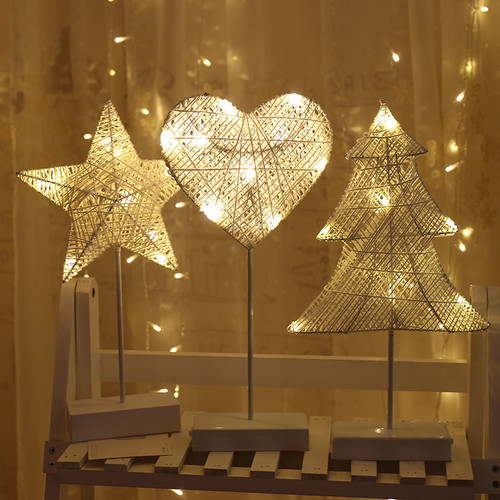Cotton String Christmas Lollipop plastic Decorative Table Lamp as Christmas blessings (3 light)