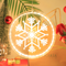 3D Acrylic Christmas decorations LED Pendant Light (snowflake)