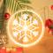 3D Acrylic Christmas Decorations LED Pendant Light with Santa Claus (snowflake)