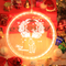 3D Acrylic Christmas Decorations LED Pendant Light with Santa Claus (reindeer)