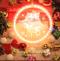 3D Acrylic Christmas Decorations LED Pendant Light with Santa Claus (bells)