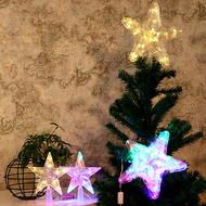Modern LED Table Lamp 5PCS Acrylic Star Shape Batteries Shine Christmas trees from Singapore best online lighting shop horizon lights